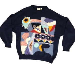 Vintage abstract art sweater